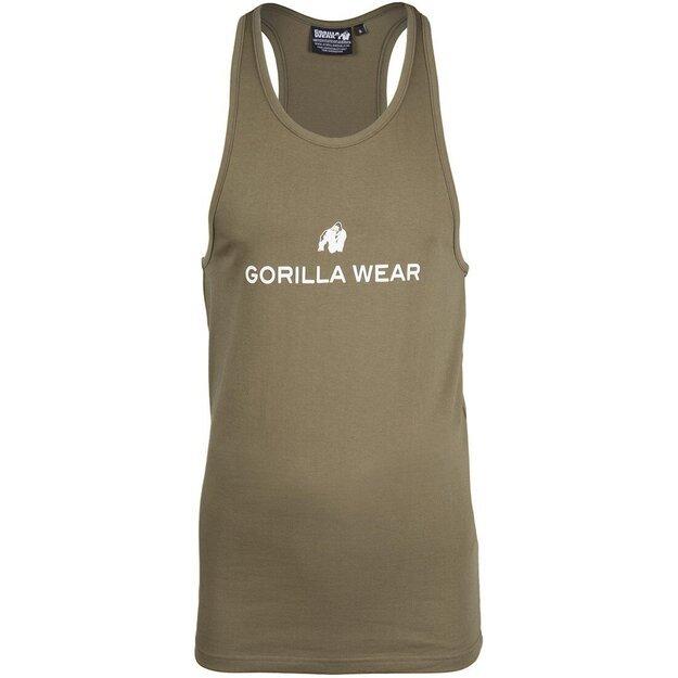 Gorilla Wear Carter Stretch Tank Top - Army Green