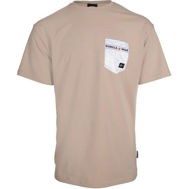 Gorilla Wear Dover Oversized T-Shirt - Beige