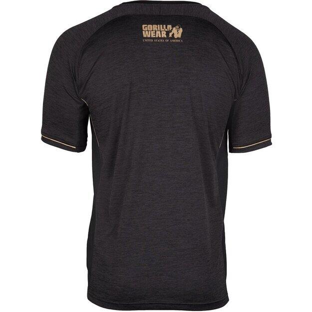 Gorilla Wear Fremont T-Shirt - Black/Gold