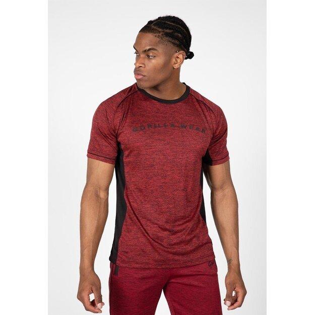 Gorilla Wear Fremont T-Shirt - Burgundy Red/Black