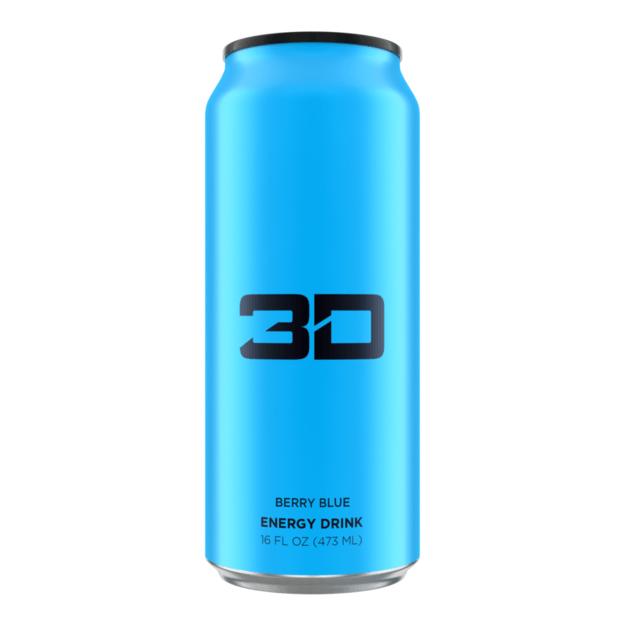 3D Energy Drink 473ml Blue