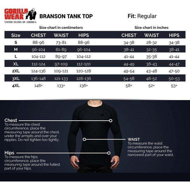 Gorilla Wear Branson Tank Top - Black/Red