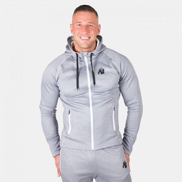 Gorilla Wear Bridgeport Zipped Hoodie - Silverblue