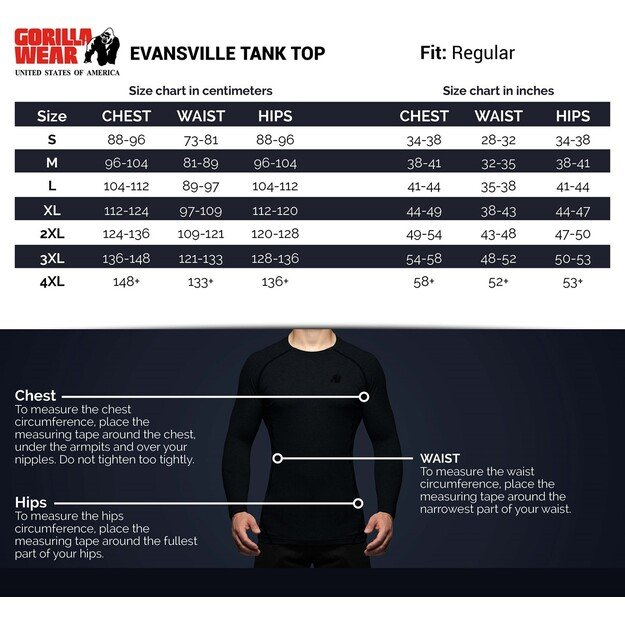 Gorilla Wear Evansville Tank Top - Black