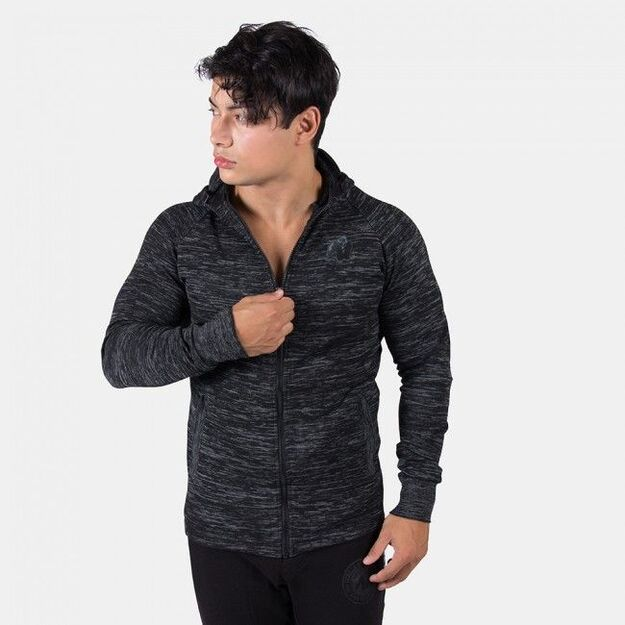 Gorilla Wear Keno Zipped Hoodie - Black/Gray