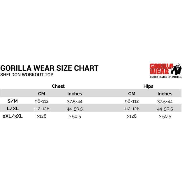 Gorilla Wear Sheldon Workout Top - Black