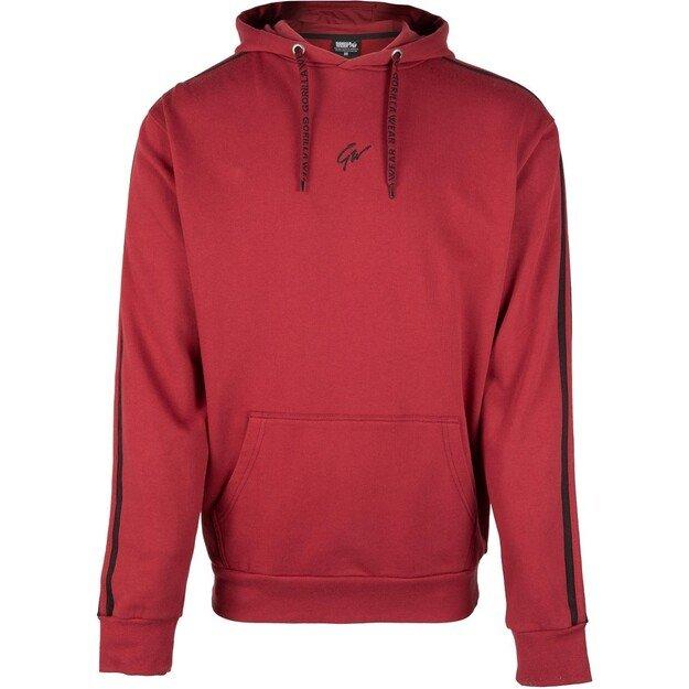 Gorilla Wear Banks Oversized Hoodie - Burgundy Red/Black