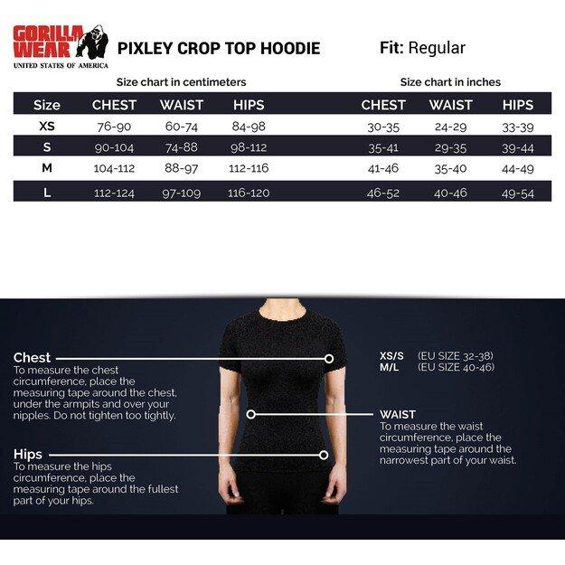 Gorilla Wear Pixley Crop Top Hoodie - Gray